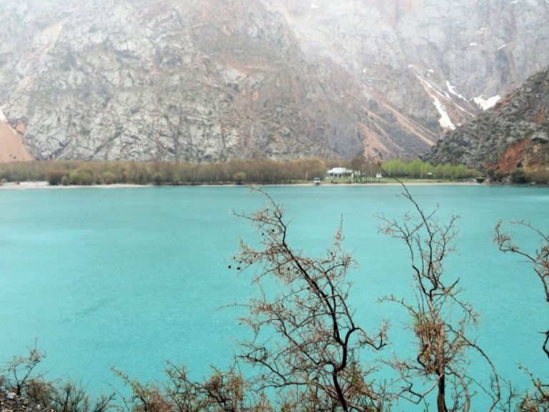 Iskanderkul lake and the Presidents dacha