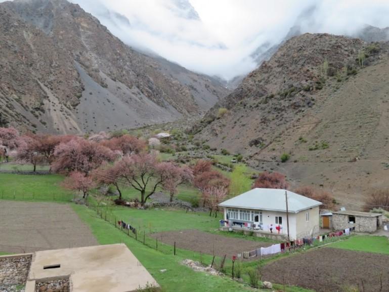 Village near Iskanderkul lake in Tajikistan