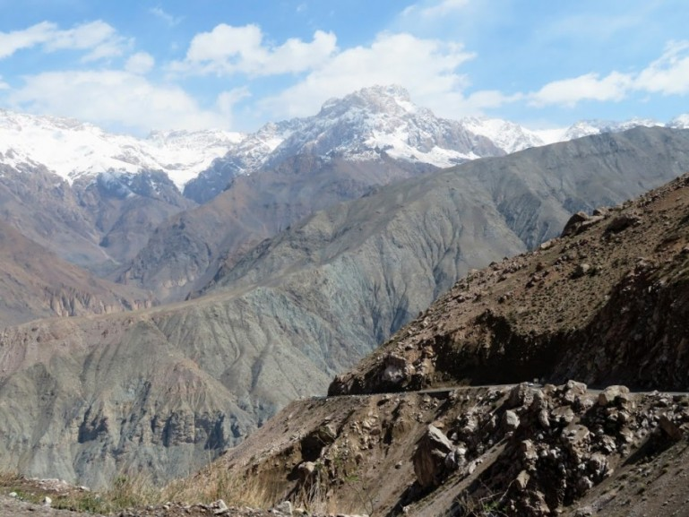 mountain sceneries when you travel in Tajikistan