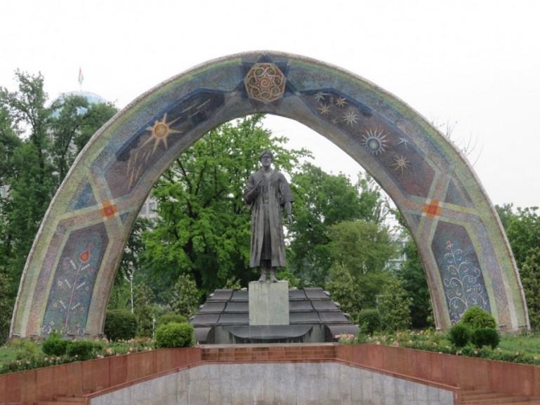 Rudaki statue in Dushanbe Tajikistan