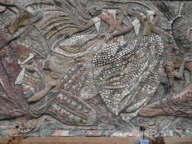 Soviet mosaic in Dushanbe Tajikistan