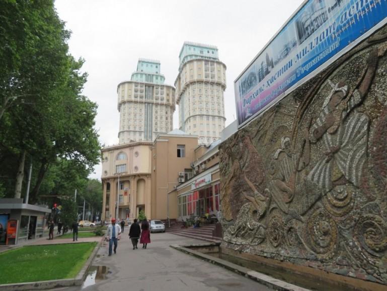 Streetscene in Dushanbe Tajikistan