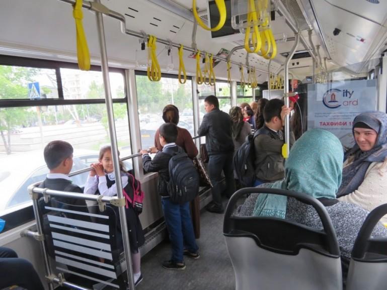 Bus in Dushanbe Tajikistan