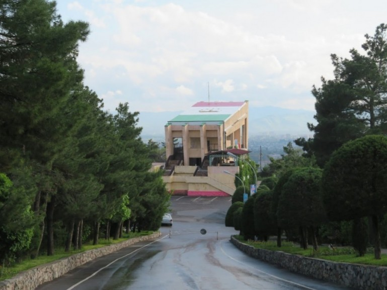 Victory Park Panorama cafe in Dushanbe Tajikistan