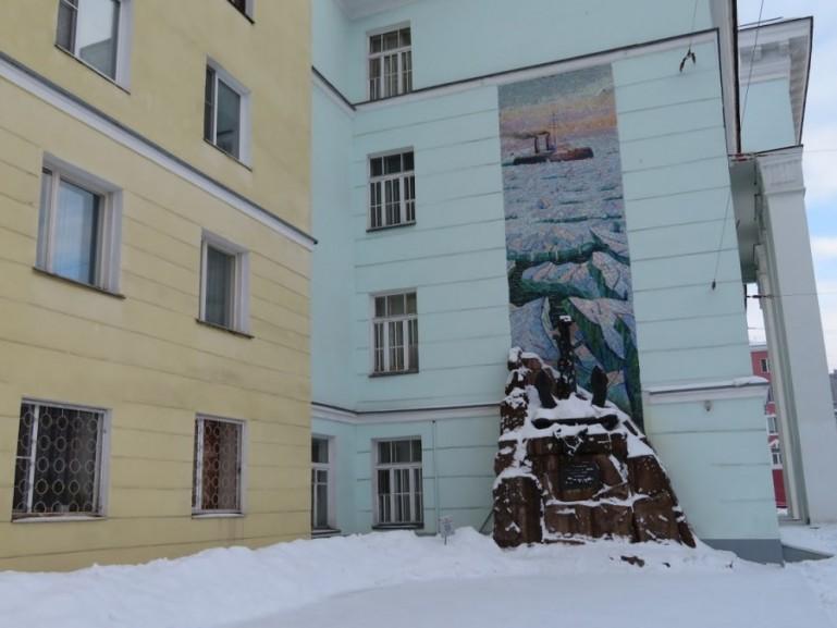 Soviet mural in Murmansk