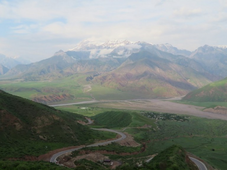 Views into Afghanistan from the Pamir highway