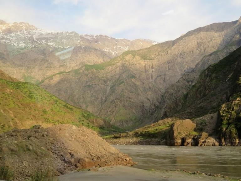 beautiful sceneries on our Pamir highway tour in Tajikistan