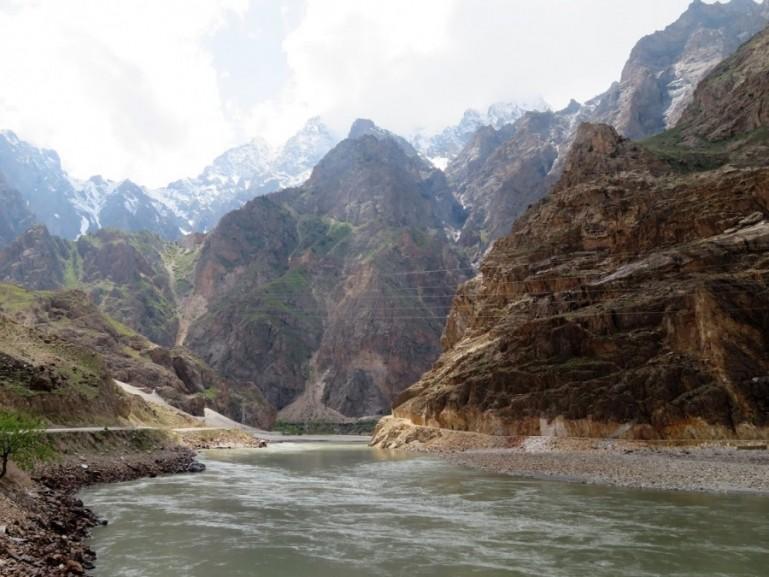 Beautiful views on the Pamir highway Tajikistan