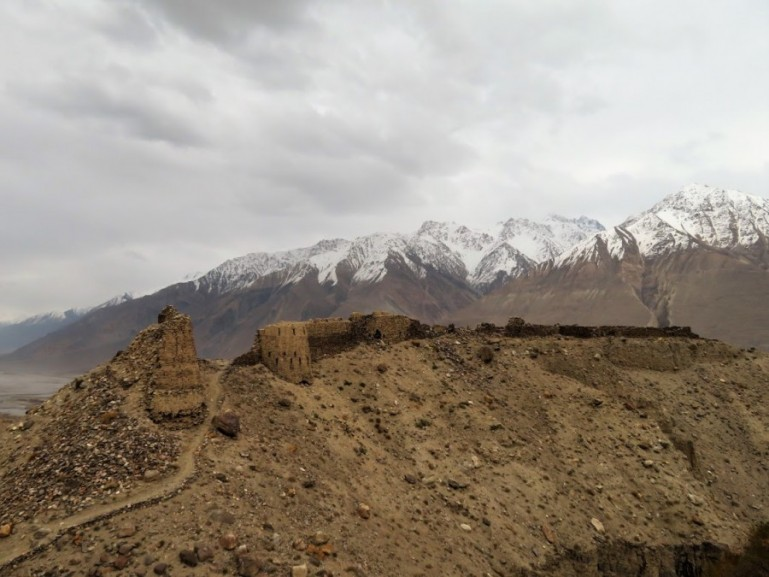 Yamchun fort in Tajikistan