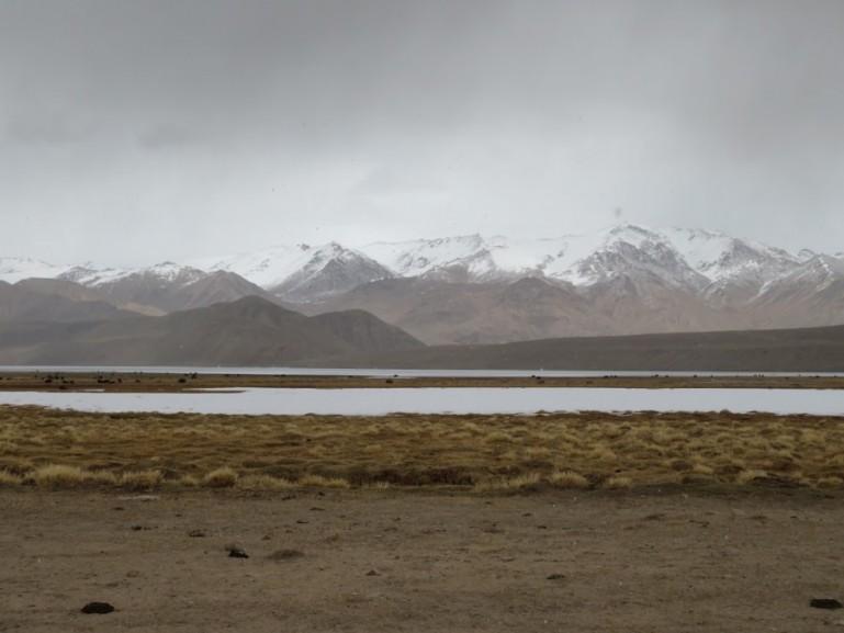 Bulunkul lake on the Pamir highway Tajikistan
