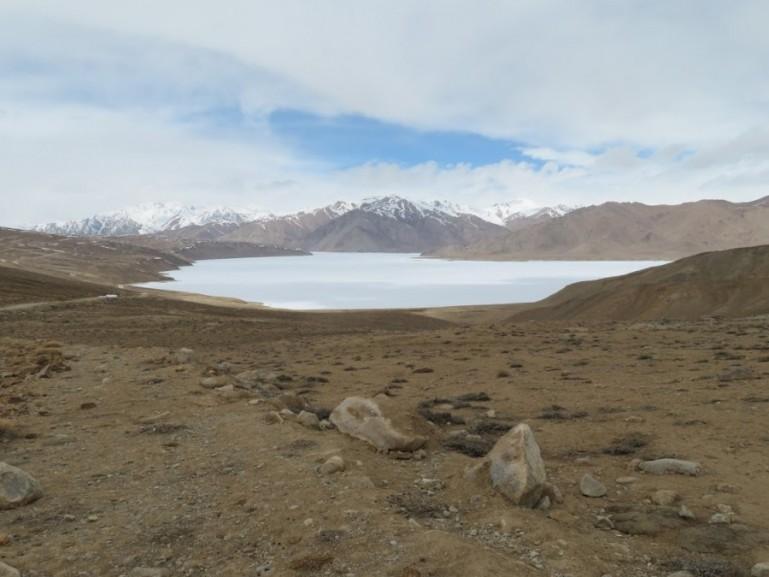 Yashilkul lake on the Pamir highway Tajikistan