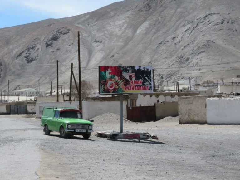 Public transport on the Pamir highway Tajikistan