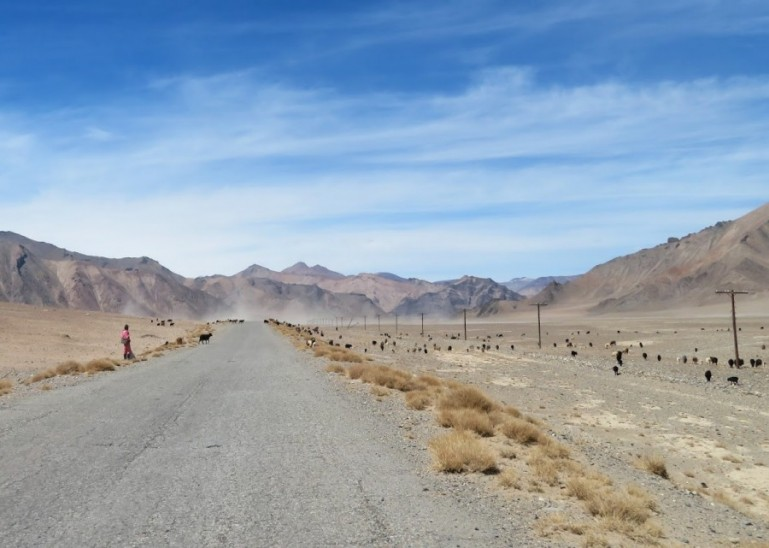 The roof of the world on the Pamir highway Tajikistan