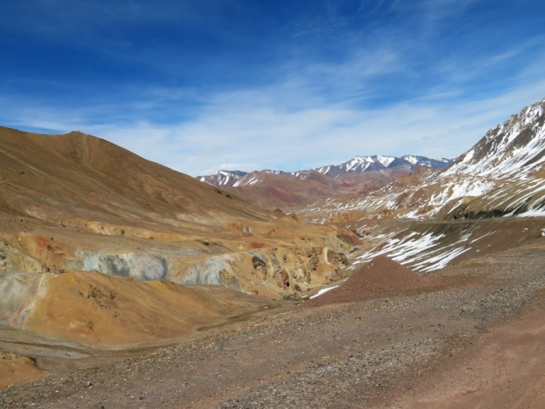 Views on the Pamir highway from Dushanbe to Osh in Kyrgyzstan