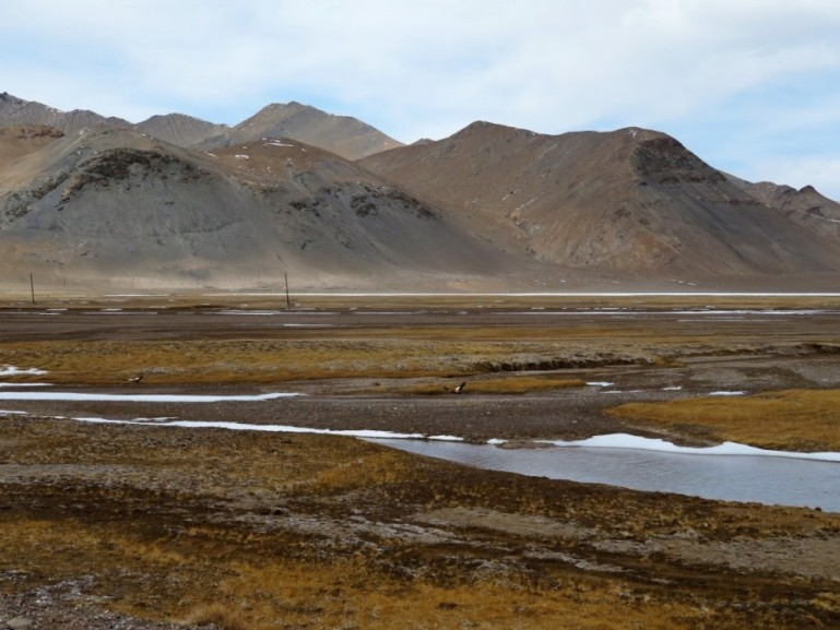 mountain sceneries along the Pamir highway in Tajikistan