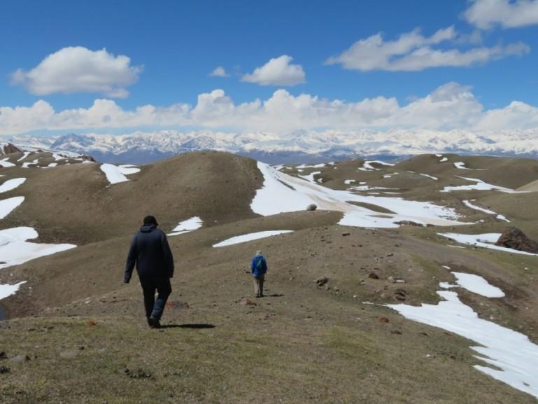 Hiking around in Sary Mogul Kyrgyzstan