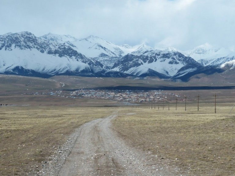 Sary Mogol on the Pamir highway Tajikistan