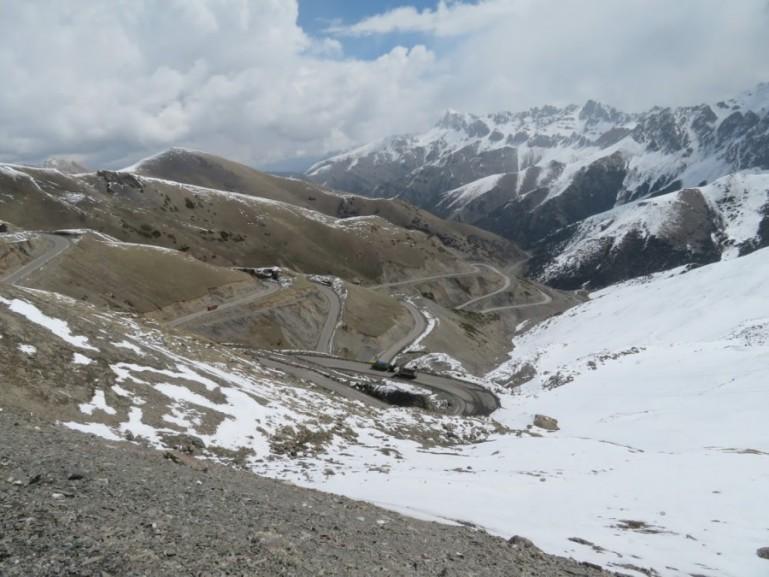 Taldyk Pass on the Pamir highway Tajikistan