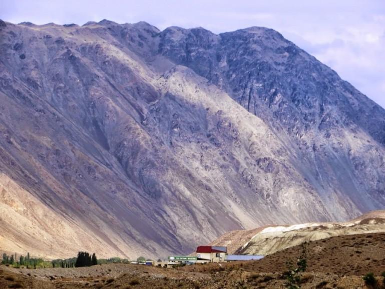 Mountain views on the way from Bishkek to Karakol