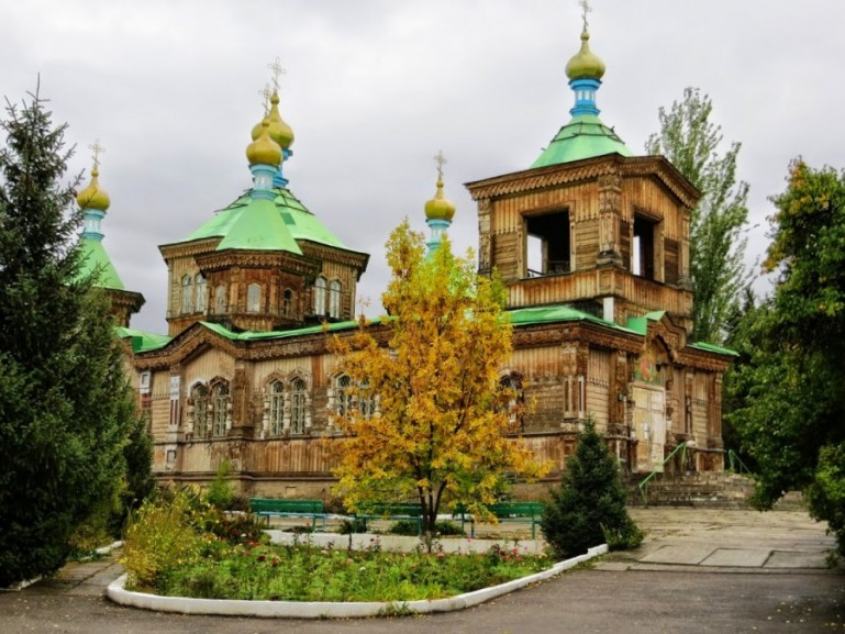 The holy trinity cathedral is among the top things to do in Karakol Kyrgyzstan
