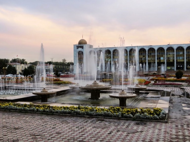 The Ala too square is among the top things to do in Bishkek Kyrgyzstan