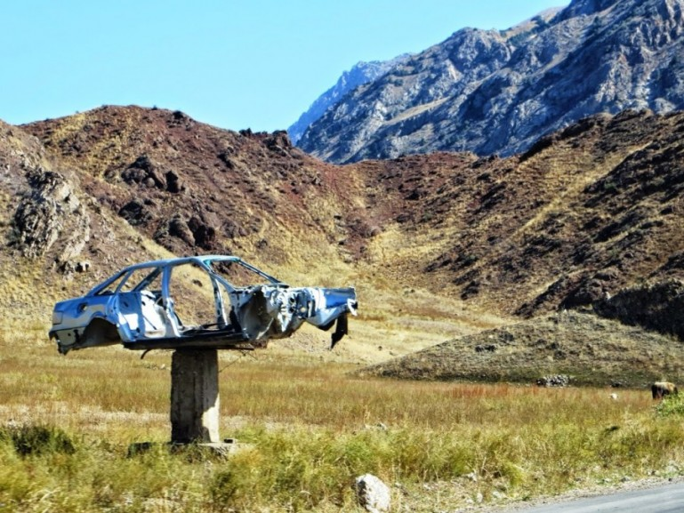 Traffic is one of the risks if you travel in Kyrgyzstan