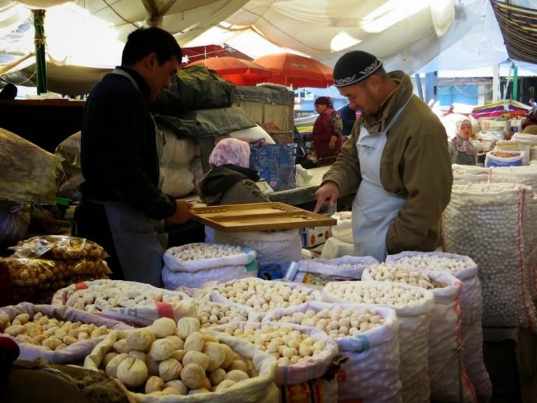Osh bazaar in Bishkek Kyrgyzstan