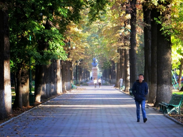 Oak park in Bishkek Kyrgyzstan