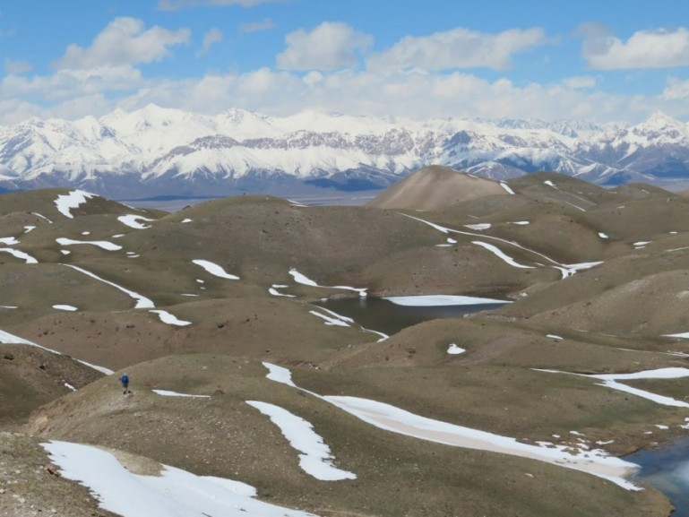 Sary Mogul and the Alay mountains in Kyrgyzstan