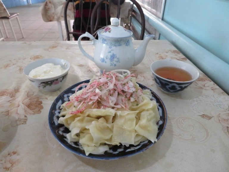 Trying Maida Manti is among the top things to do in Osh Kyrgyzstan