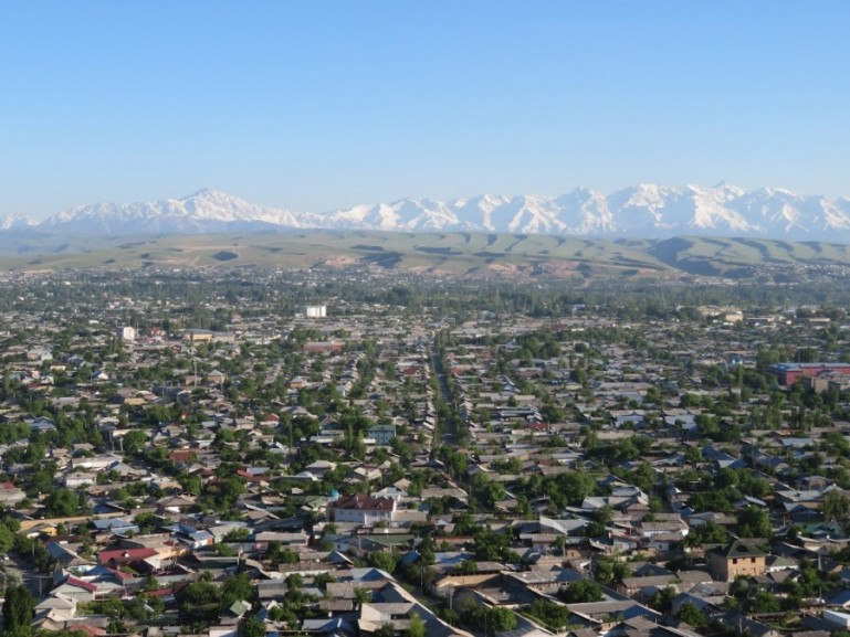 Views over Osh Kyrgyzstan from Suleiman too mountain