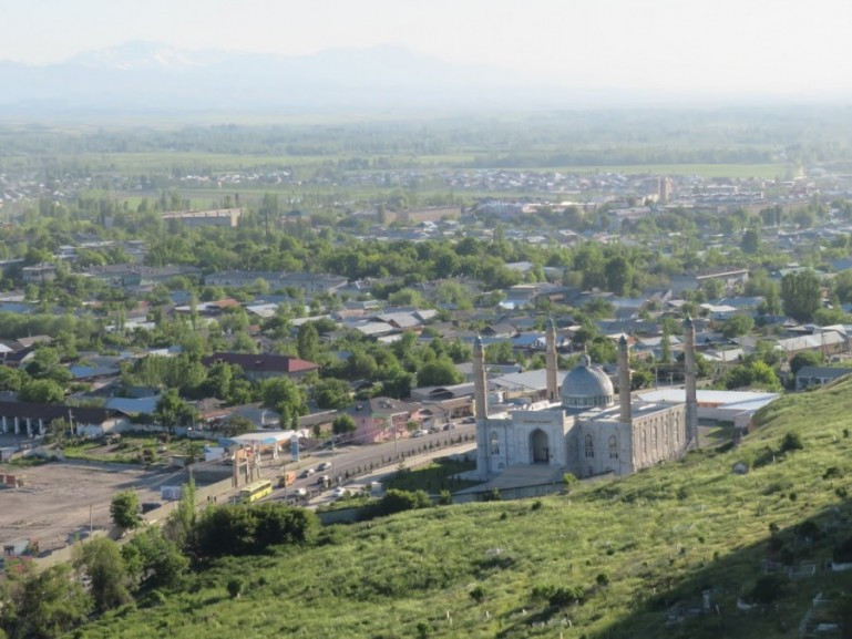 Views over Osh Kyrgyzstan from the Suleiman Too mountain. One of the top things to do in Osh