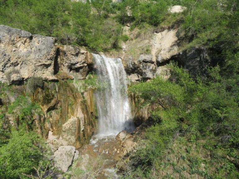 Small waterfall in Arslanbob Kyrgyzstan