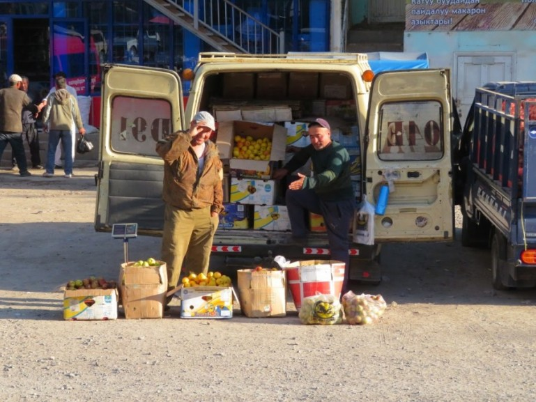 Market in Kyrgyzstan