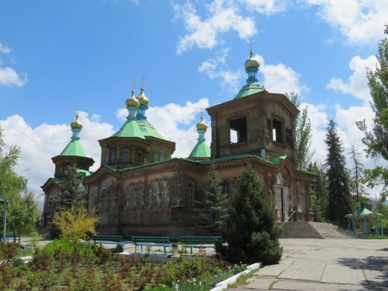 Wooden church in Karakol Kyrgyzstan