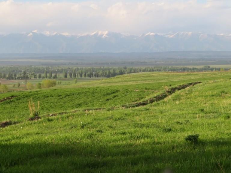 View on Karakol Kyrgyzstan