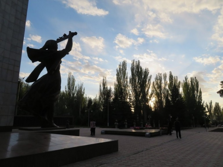 The victory park in Karakol Kyrgyzstan