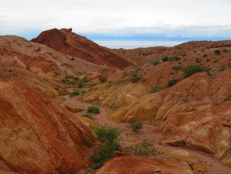 Skazka Canyon at the southern shore of lake Issyk kul in Kyrgyzstan