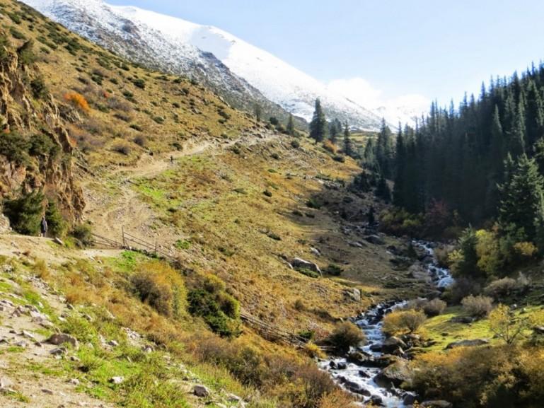 On the way to Ala Kul lake Kyrgyzstan