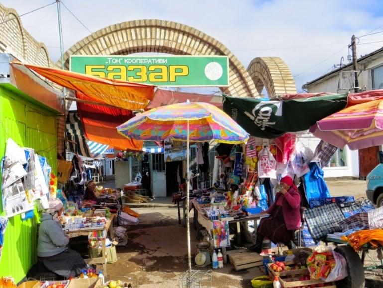 Bazaar in Bokonbaevo Kyrgyzstan