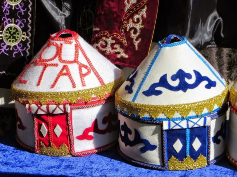 Kyrgyz yurt souvenirs made from felt