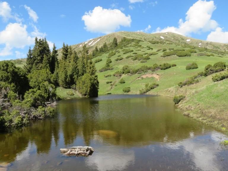 Turnaluu kol lake in Jyrgalan Kyrgyzstan