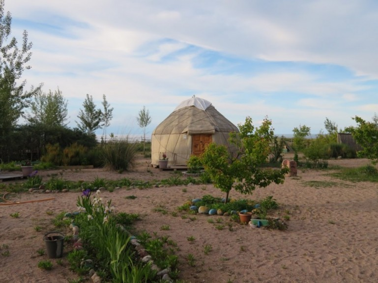 Yurt near Bokonbaevo Kyrgyzstan