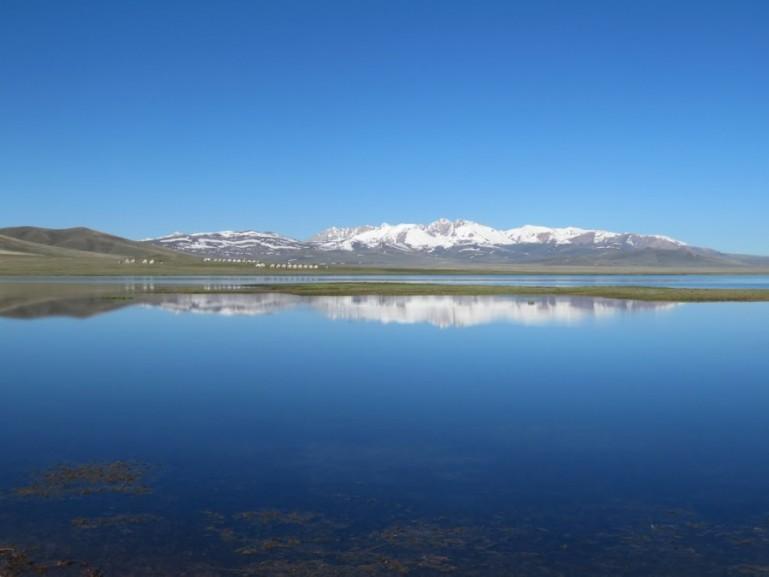 Song kul lake in Kyrgyzstan