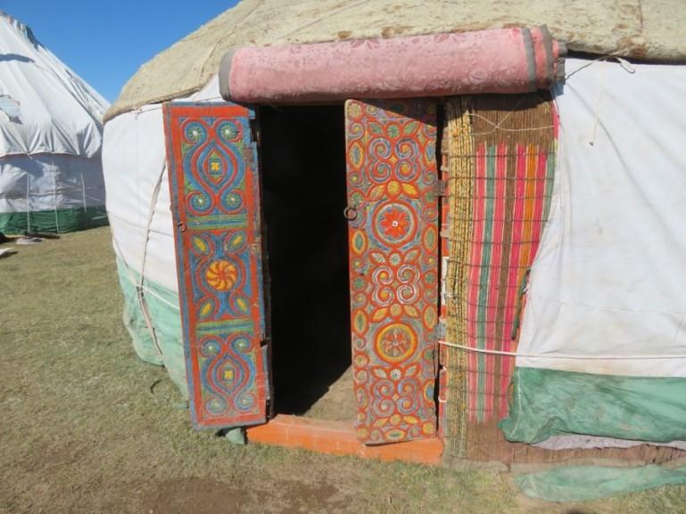 Yurt at Song kul lake in Kyrgyzstan