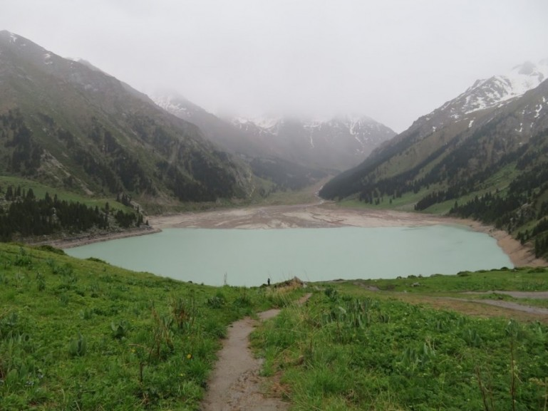 Big Almaty lake in Ile Alatau National Park