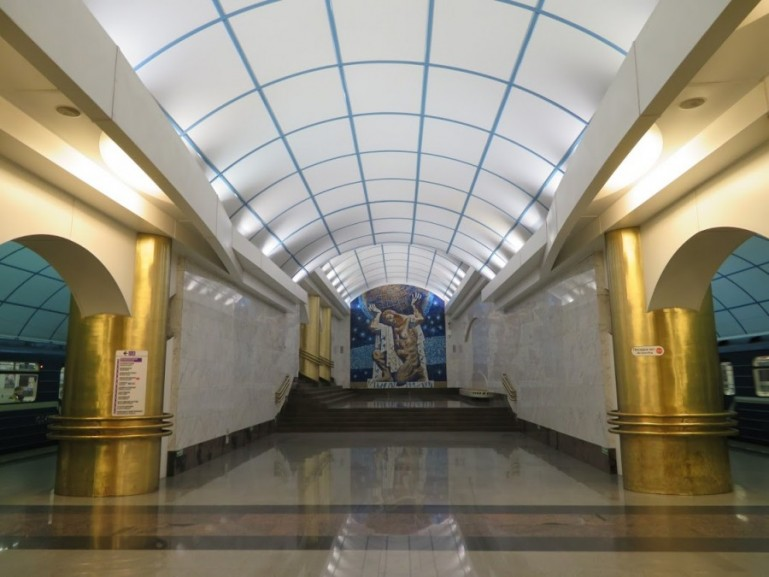 Mezhdunarodnaya metro station on the St Petersburg metro tour