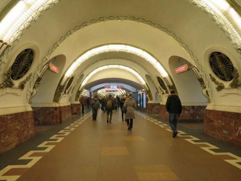 Ploschad Vosstaniya metro station on the St Petersburg metro tour