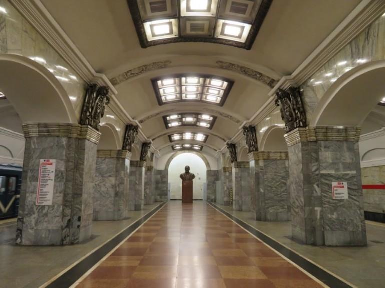 Kirovski Zavod metro station on the St Petersburg metro tour
