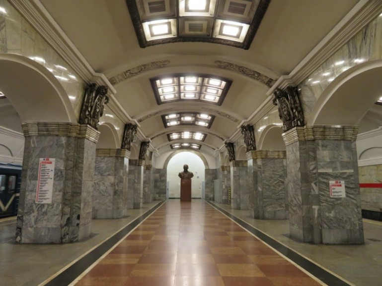 Kirovski Zavod metro station on the St Petersburg metro tour